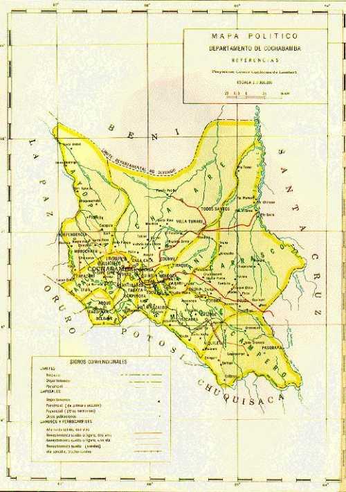 Cochabamba-Bolivia Map